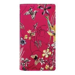 "Записная книжка  ""Butterfly"" 90х160 мм, 192 стр., малиновый, суперобложка"