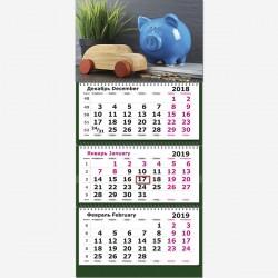 """Календарь трехсекционный 2019 г. """"Символ года.Копилка"""""""