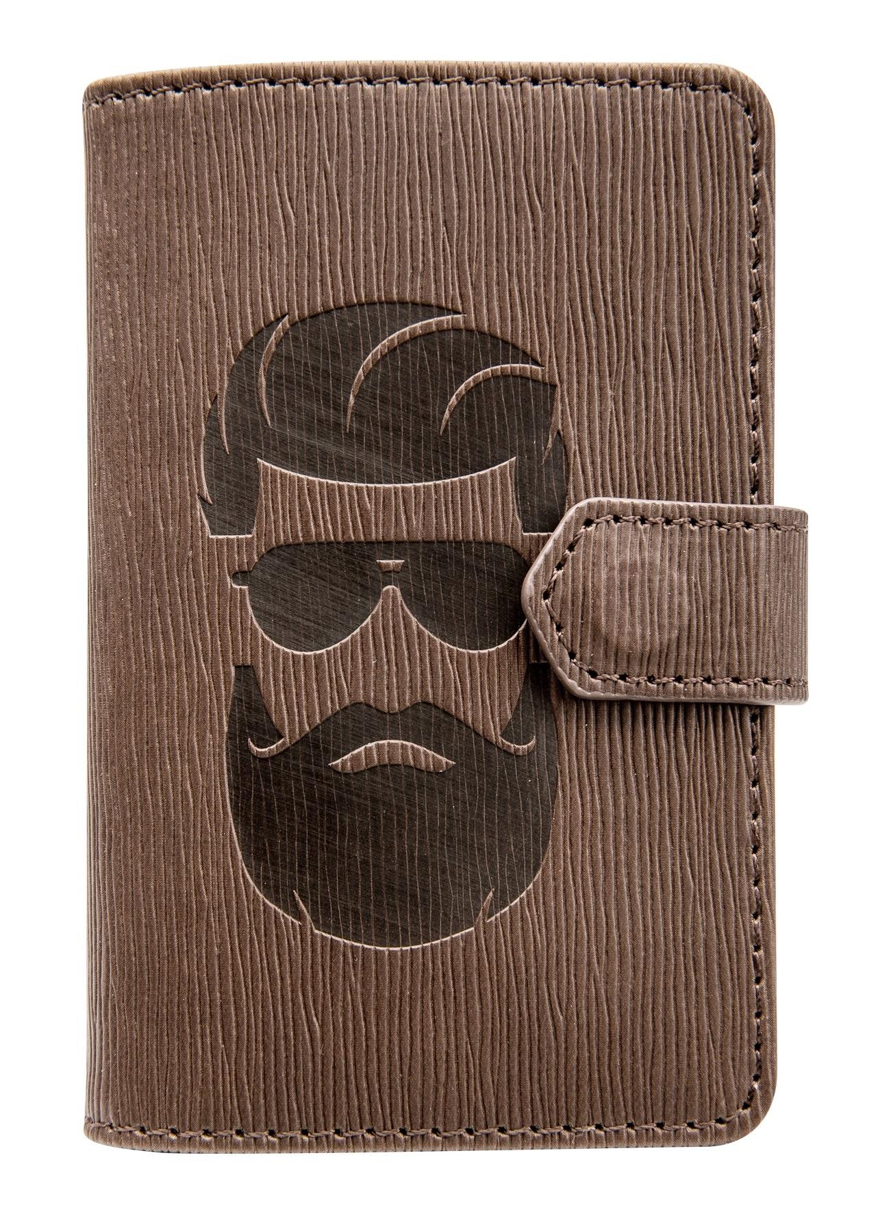 """Визитница """"Beard"""" на одно окно,77х105 мм,24 карты, иск. кожа, клапан"""