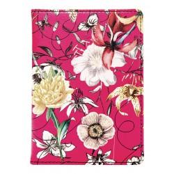 """Обложка для паспорта """"Butterfly"""", 100*135 мм, искуств. кожа, розовая"""