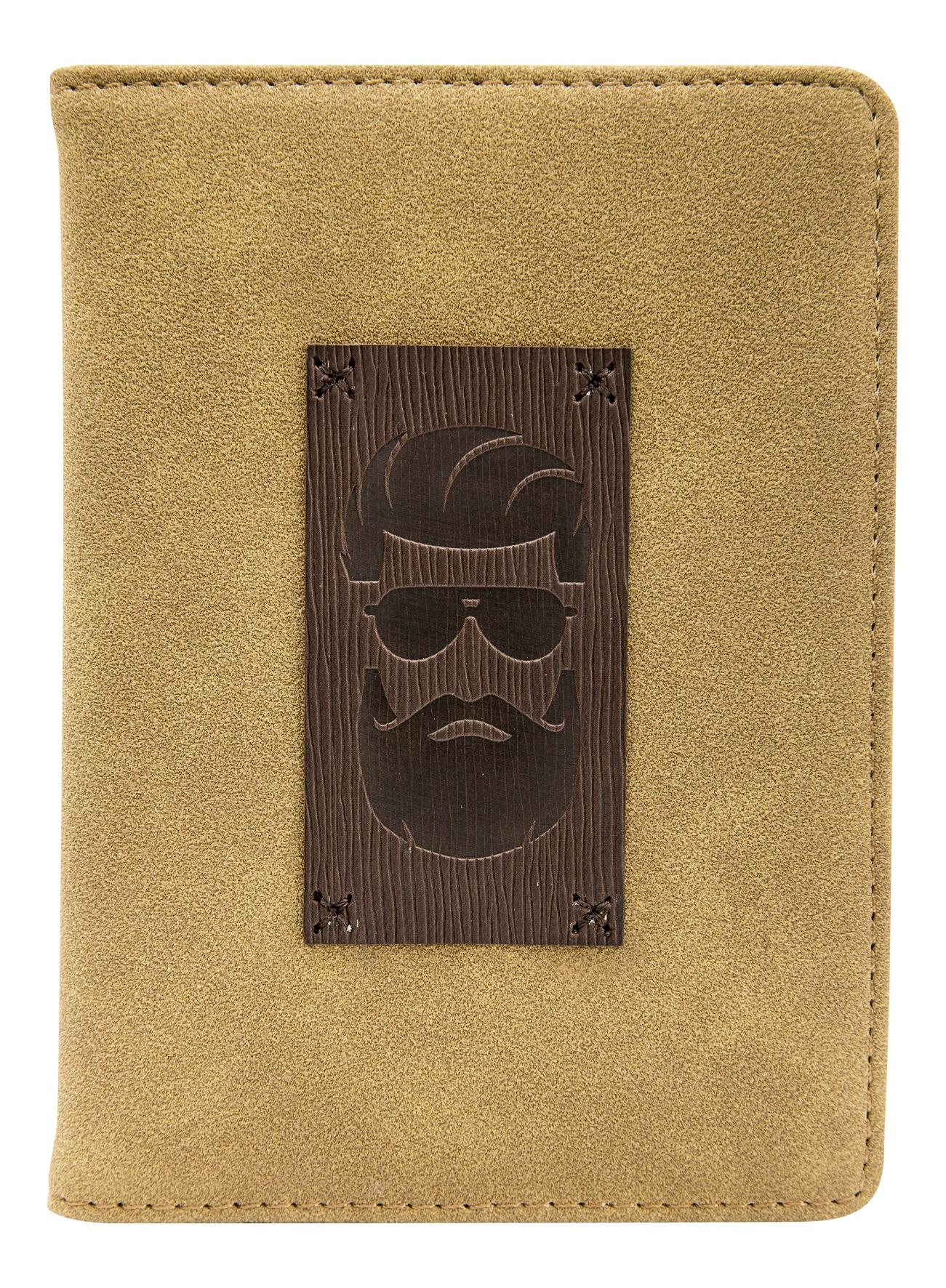 """Обложка для паспорта """"Beard"""", 100*135 мм, искуств. кожа"""