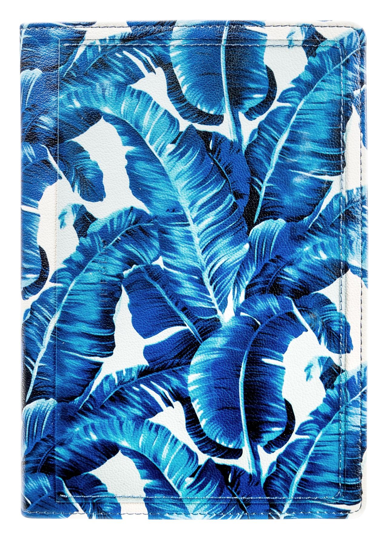 """Ежедневник не датированный """"Blue Tropic"""" 140*200/192 стр, кож/зам, интегральный перепл."""