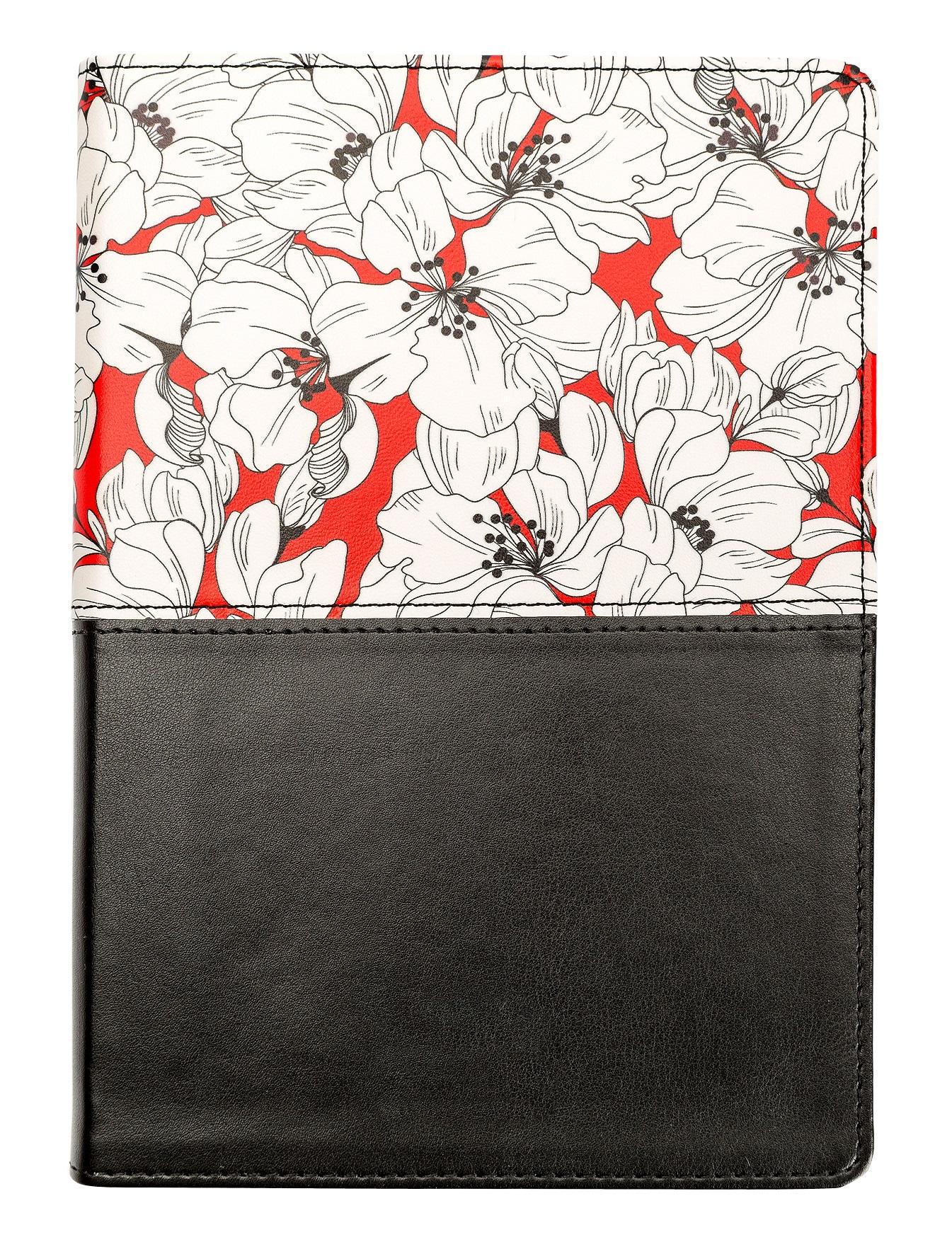 """Ежедневник не датированный """"Garden 140*200/192 стр, кож/зам, интегральный перепл."""
