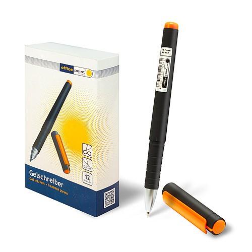Ручка Office Point гелевая GS-653 0.7мм черная