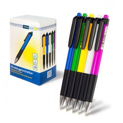 Ручка Office Point шариковая автоматическая B-522 0.7 синяя