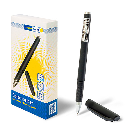 Ручка Office Point гелевая GS-635 0.5мм синяя