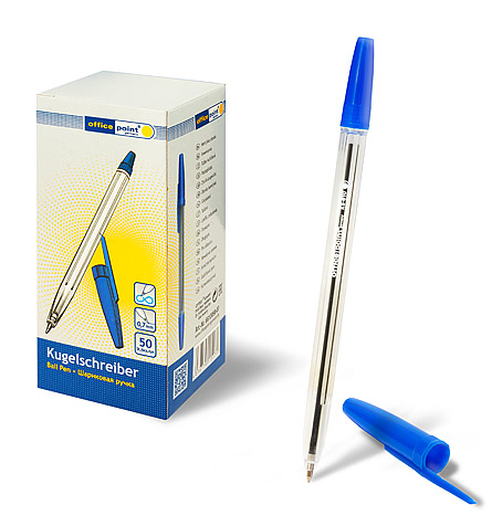 Ручка Office Point шариковая KS-610 0,7мм 50шт/уп синяя