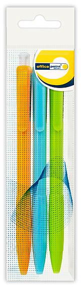 Ручка Office Point шариковая автоматическая DK-692 0.7мм 3шт синяя