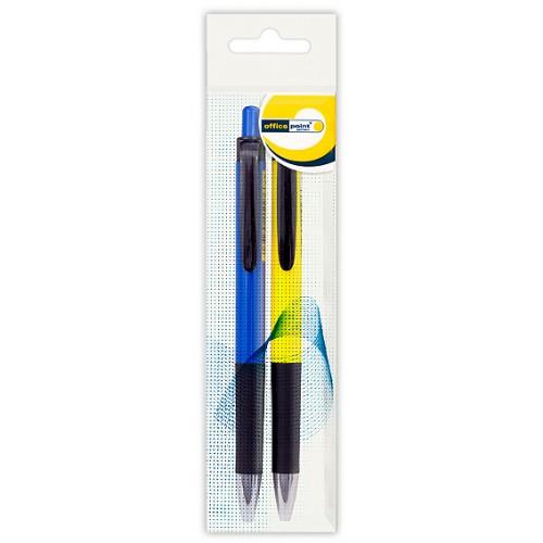 Ручка Office Point шариковая автоматическая DK-673 0.7мм 2шт синяя
