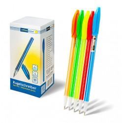 Ручка Office Point шариковая KS-615 одноразовая, 0.5мм синяя