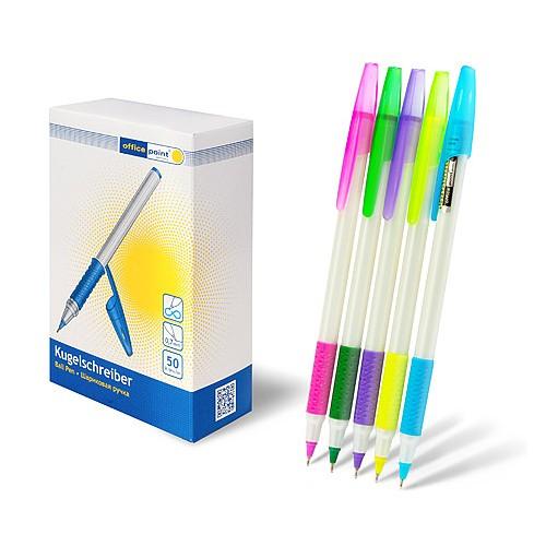 Ручка Office Point шариковая KS-620 одноразовая 0.7мм синяя