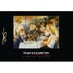 """Альбом для рисования 40 листов, сутаж """"Импрессионисты"""", ламинированный картон"""