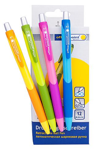 Ручка шариковая Office Point Carnaval автоматическая синяя