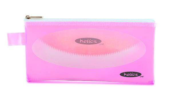 Пенал-косметичка Helios светло-розовая