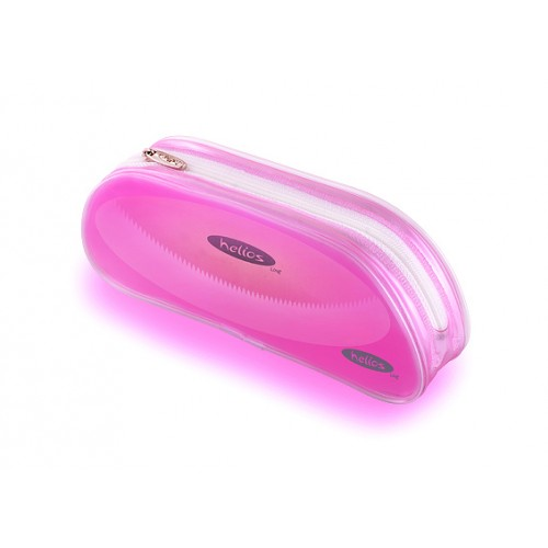 Пенал-овал Helios светло-розовая