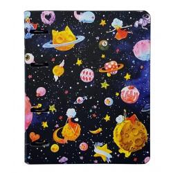 """Тетрадь """"Cosmos"""",  175х212 мм, 120 л., клетка, кольцевой механизм"""