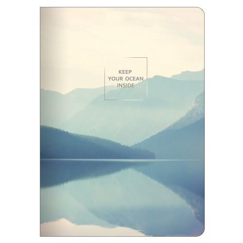 "Тетрадь ""Nature"", озеро, 150х210 мм/48 л, мягк. переп.,скрепка,  клетка"