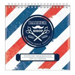 """Альбом для рисования """"Barbershop""""172*172 мм/40л, полосы, нелинов., мяг. переп, спираль"""