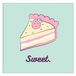 """Альбом для рисования """"Sweet"""" 170*170 мм/40 л, бирюзовый,  мяг. переп, склейка"""