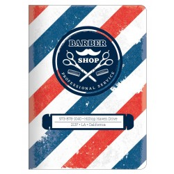 "Тетрадь ""Barbershop"", полосы,150х210 мм/48 л, мягк. переп.,скрепка,  клетка"
