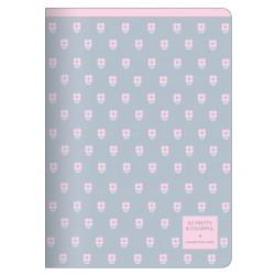 """Тетрадь """"Easy"""", розовый,150х210 мм/48 л, мягк. переп.,скрепка,  клетка"""