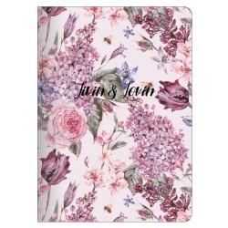 """Тетрадь """"Emily"""", розовый,150х210 мм/48 л, мягк. переп.,скрепка,  клетка"""