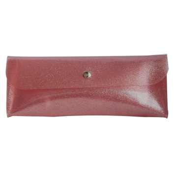 "Пенал-косметичка ""Tinsel"" 185*73 мм розовый пластик, на кнопке"