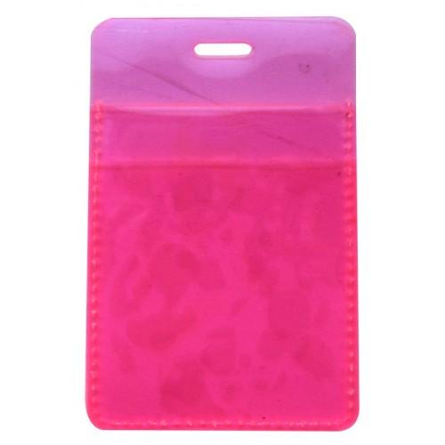 """Обложка для проездного билета """"Neon"""" розовый, 105*70 мм пластик"""