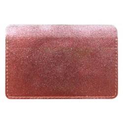"""Обложка для проездного билета """"Tinzel"""" розовый, 105*70 мм пластик"""