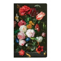 "Тетрадь Art-Blanc ""Art Flowers"",108х175 мм/40 л, нелинованный, мягк. переп.,скрепка"