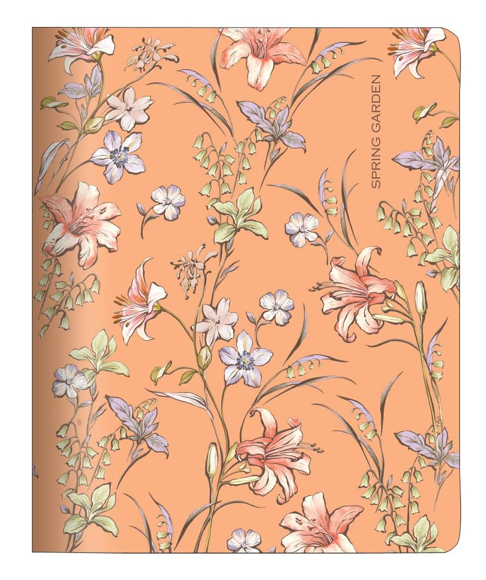 """Тетрадь """"Spring"""" оранжевый, 165*203 мм/48 л, мягк. переп, скрепка,  клетка"""