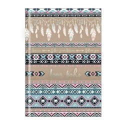 "Тетрадь ""Ethnic"" серый, 140х200 мм/128 л. книжный переп, клетка"