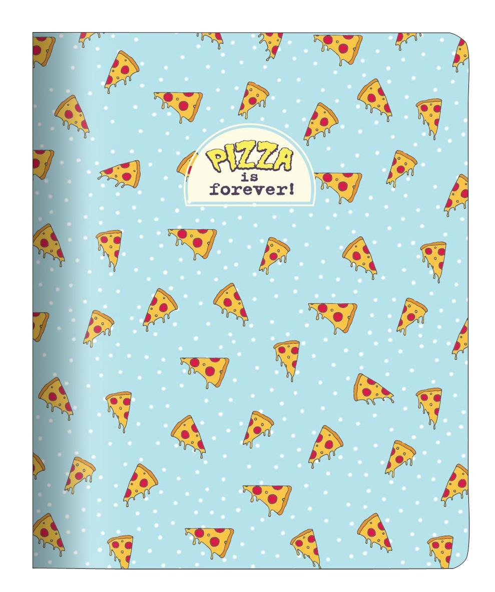 "Тетрадь ""Eat me"" пицца, 165*203 мм/48 л, мягк. переп, скрепка,  клетка"