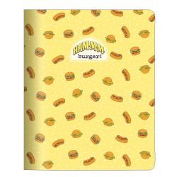 "Тетрадь ""Eat me"" бургер, 165*203 мм/48 л, мягк. переп, скрепка,  клетка"