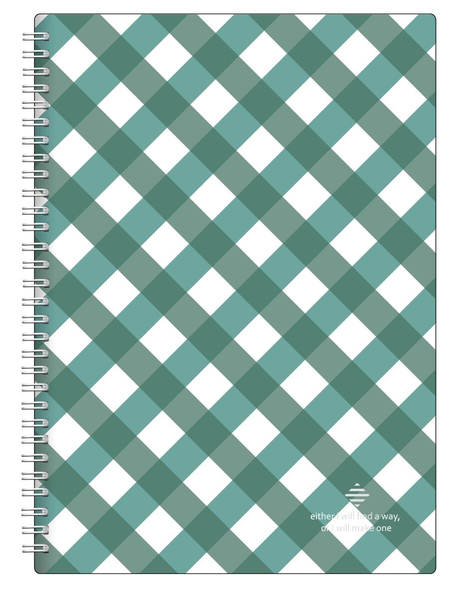 "Тетрадь ""Business"", зеленый, 202х282 мм/96 л, мягкий  переп.,спираль,  клетка"