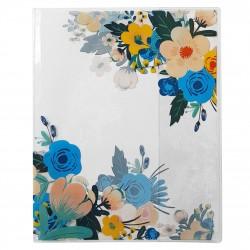 "Обложка для тетради ""Retro flowers"" 350*210мм, ПВХ"