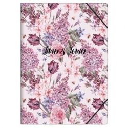 """Папка """"Emily"""", 224х310 мм, розовый, на резинке, картон"""