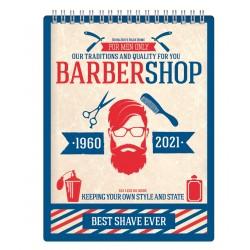"""Альбом для рисования """"Barbershop""""156*207 мм/45 л, нелинов., мяг. переп, спираль"""