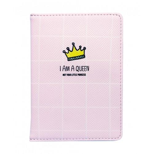 """Обложка для паспорта """"Funny"""", 100*135 мм, искуств. кожа, корона"""