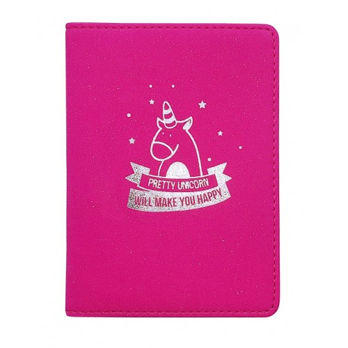 """Обложка для паспорта """"Unicom"""", 100*135 мм, искуств. кожа, розовый"""