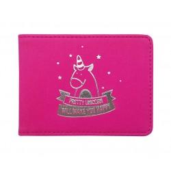 """Обложка для студенческого билета """"Unicom"""" 112*83 мм , розовый, иск. кожа"""
