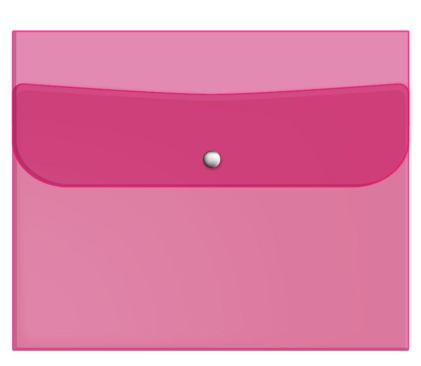 "Папка для тетрадей ""Neon""  242х175 мм, пластик розовый, на кнопке"