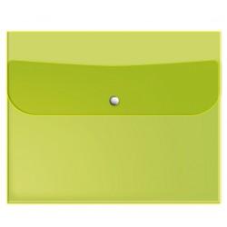 "Папка для тетрадей ""Neon""  242х175 мм, пластик салатовый, на кнопке"