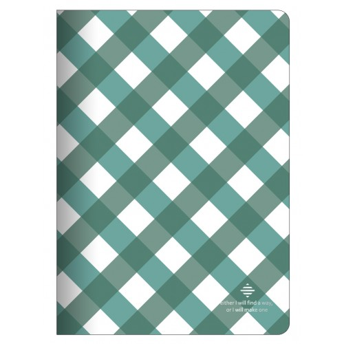 "Тетрадь ""Business"", зеленый, 150х210 мм/48 л, мягк. переп.,скрепка,  клетка"