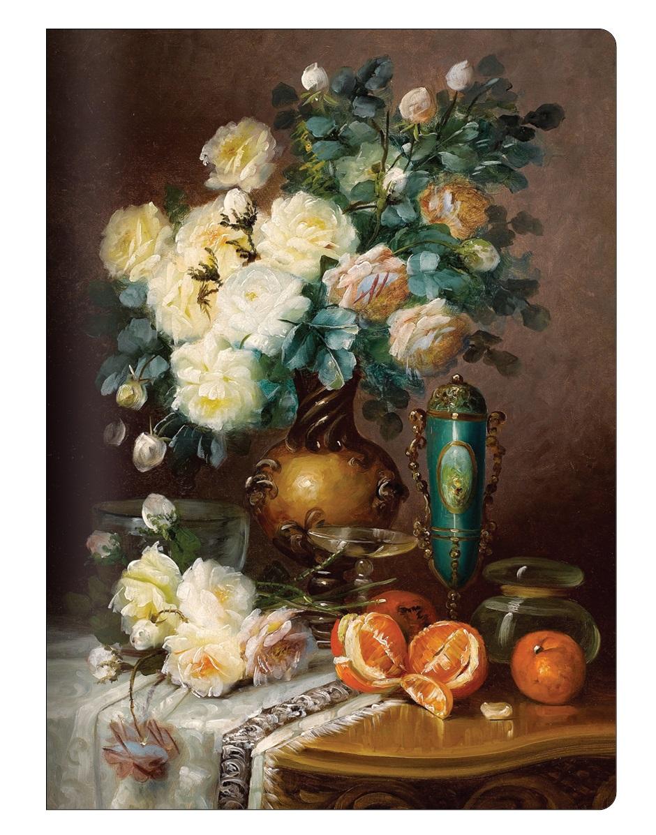 """Тетрадь Art-Blanc """"Art Flowers"""", 194х266 мм/48 л, мягк. переп.,скрепка, клетка"""