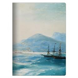 "Тетрадь Art-Blanc ""Ayvazovsky"", 194х266 мм/48 л, мягк. переп.,скрепка, клетка"