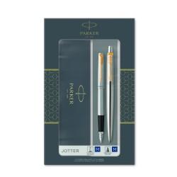 Ручка PK  Jotter Stainless Steel GT шарик+ перо