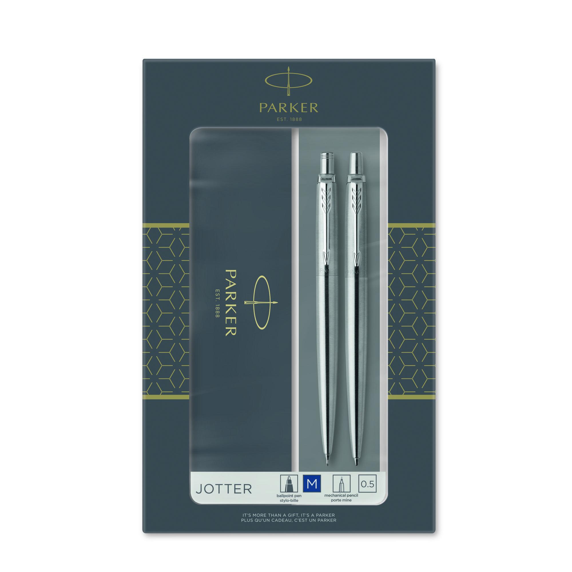 Ручка PK  Jotter Stainless Steel CT шарик+ мех.карандаш