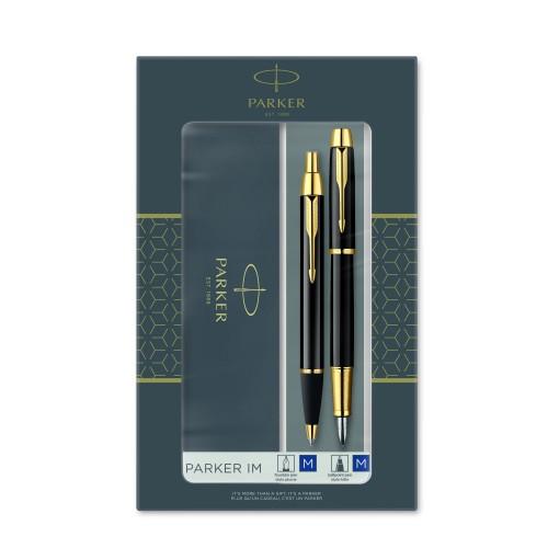 Ручка PK  IM Metal Black GT шарик+перо