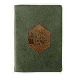 """Ежедневник дат. 2020 """"Traveler"""" 140*200/352 стр, зеленый, суперобложка, ляссе"""